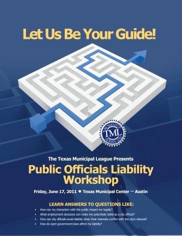 Public Officials Liability Workshop - Texas Municipal League