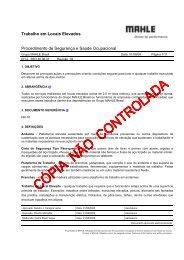 Trabalho em Locais Elevados - mahle.com
