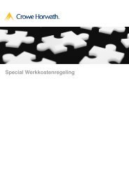 Special Werkkostenregeling - Crowe Horwath International
