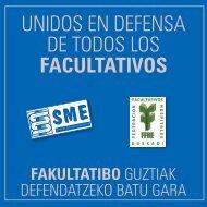 UNIDOS EN DEFENSA DE TODOS LOS FACULTATIVOS - Sme.es