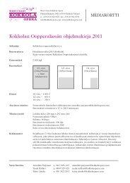 WCKO Mediakortti 201.. - Kokkola Opera