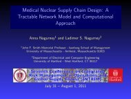 Medical Nuclear Supply Chain Design: A Tractable Network Model ...