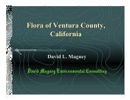 Flora of Ventura County, California - David Magney Environmental ...