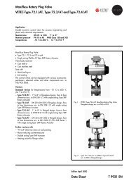 Maxifluss Rotary Plug Valve VETEC-Type 72.1/AT, Type 72.3/AT ...