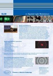 Spatial Light Modulators - Photonic Sourcing