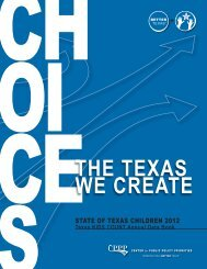 THE TEXAS WE CREATE - Center for Public Policy Priorities
