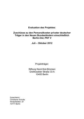 Download der vollständigen Version der Evaluierung - Stiftung Nord ...