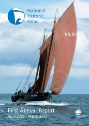 First Annual Report - National Historic Ships UK