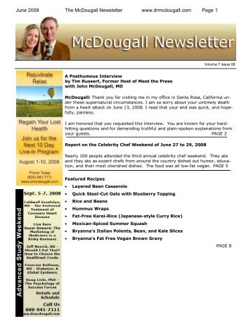 Printer Friendly pdf - Dr. McDougall