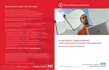Education for the Future. - ITT Technical Institute