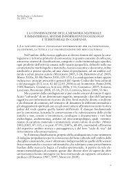 LA CONSERVAZIONE DELLA MEMORIA MATERIALE E ...