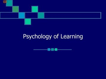 Psychology of Learning - Monroe Community College