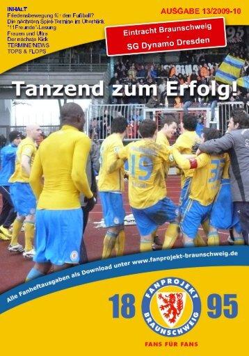 Heft 13: Dynamo Dresden - FanPresse Braunschweig