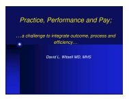 Practice, Performance and Pay; - Duke University Medical Center