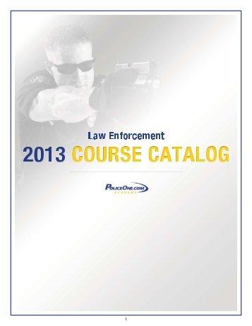 2013 PoliceOne Academy Course Catalog