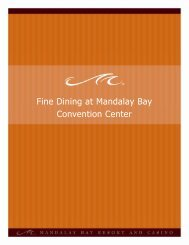 Fine Dining at Mandalay Bay Convention Center