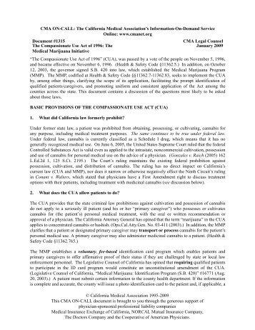 California Medical Association on Medical Marijuana.pdf