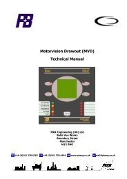Motorvision Drawout (MVD) Technical Manual - PBSI Group Ltd