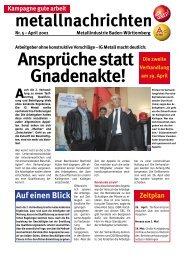Metallnachrichten Nr. 5/01 - Redaktionssystem *.igm.de