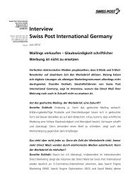 Interview Swiss Post International Germany