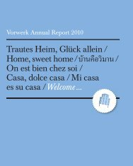 Vorwerk Annual Report 2010