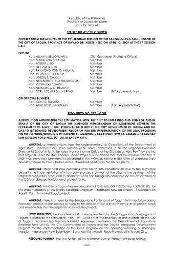 Appendix 3 Sample Memorandum Of Agreement Moa
