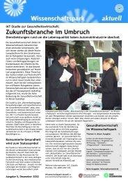Zukunftsbranche im Umbruch - Wissenschaftspark Gelsenkirchen