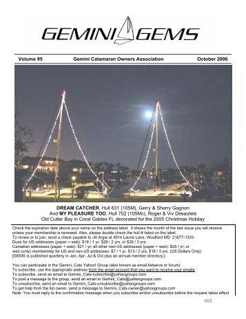 Issue #95, January 2006 - Gemini Gems