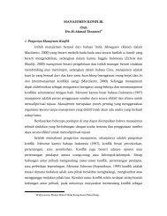 MANAJEMEN KONFLIK oleh Drs.H.Ahmad ... - Kemenag Sumsel