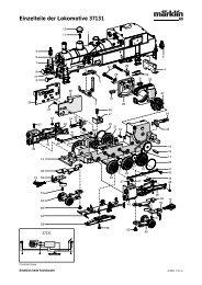 Einzelteile der Lokomotive 37131