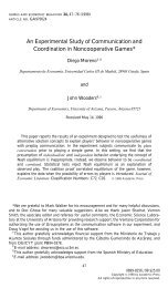An Experimental Study of Communication and Coordination in ...