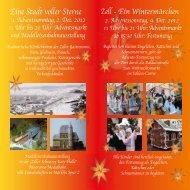 Eine Stadt voller Sterne Zell - Ein Wintermärchen - Zellerland.de