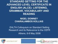 standard setting for the advanced level certificate in english - ealta