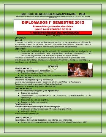 DIPLOMADOS I° SEMESTRE 2012 - infopsicologica.com