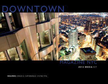 2013 MEDIA KIT - Downtown Magazine