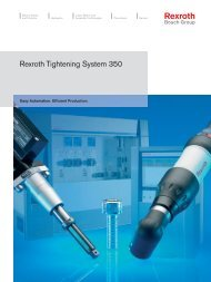 Bosch Rexroth Tightening System 350 - Rhino Assembly Corporation