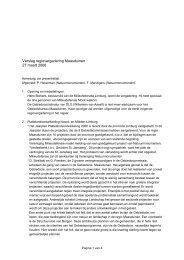 Verslag regiovergadering Maasduinen 27 maart 2006