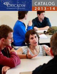 CATALOG - Cascadia Community College