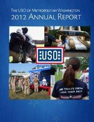 Annual Report - USO Metropolitan Washington