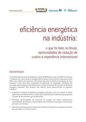 Eficiência Energética na Indústria: o que foi feito no Brasil ... - CNI