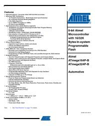 8-bit Atmel Microcontroller with 16/32K Bytes In ... - E-LAB Computers