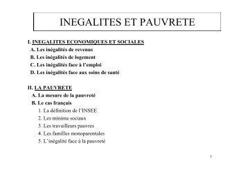 Les inégalités économiques et sociales - site de ressources en ...