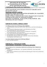 Information für die Fahrgäste im Zusammenhang mit der Baustelle ...
