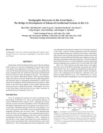 Stratigraphic Reservoirs in the Great Basin - Utah Geological Survey