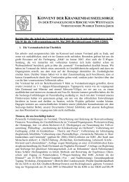 Jahresbericht 2005 - Evangelische Krankenhausseelsorge in ...