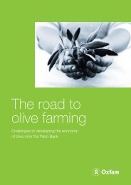 The road to olive farming - Oxfam International