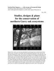 Gordon Brent Ingram 2009 work on conservation of northern Garry ...
