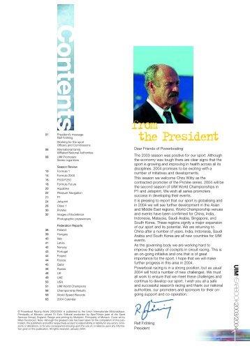 2003/2004 Yearbook - UIM