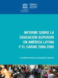 Informe sobre la Educación Superior en América Latina y El Caribe ...