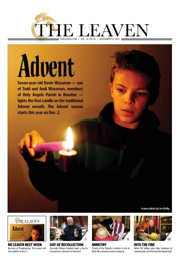 Seven-year-old Devin Wassman — son of Todd and ... - The Leaven